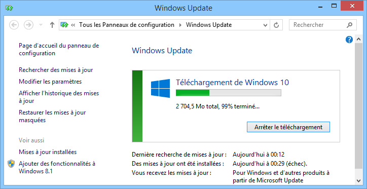 Forcer MAJ Windows 10 02