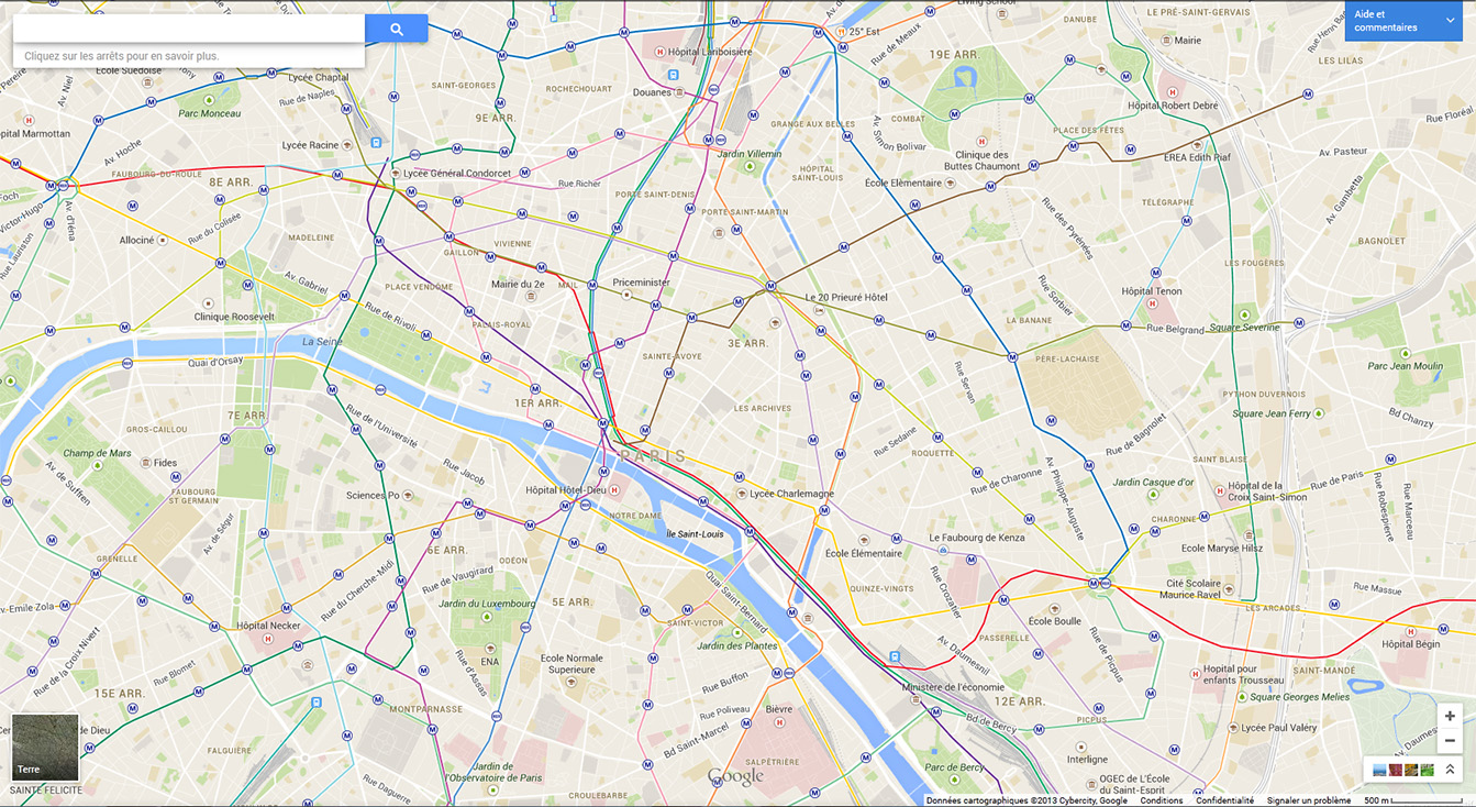 google-maps-metro-paris