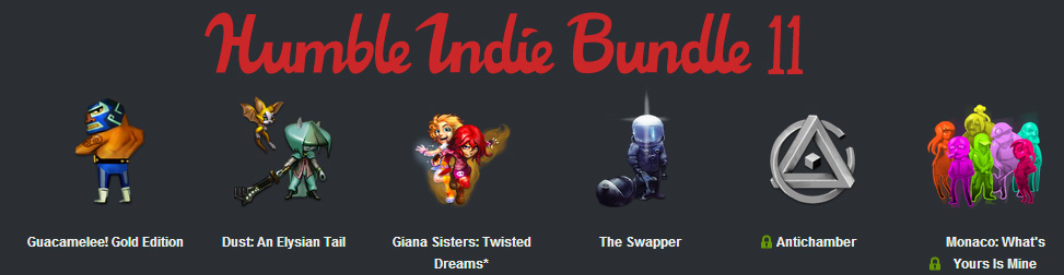 Humble Indie Bundle 11 Entête