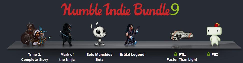 Humble Indie Bundle 9 Entête