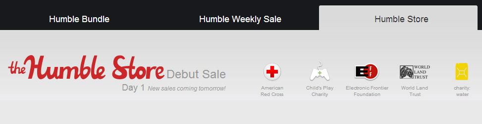 Humble Store Entête