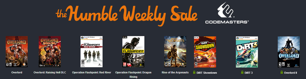 Humble Weekly Sale Codemaster Entete