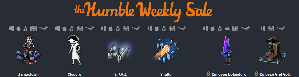 Humble Weekly Sale Entête