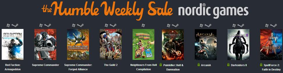 Humble Weekly Sale Nordic Games Entête