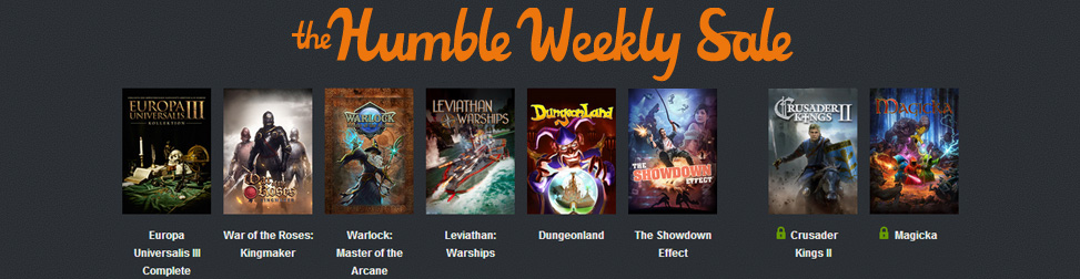 Humble Weekly Sale Paradox Intéractive