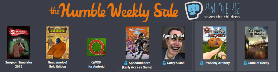 Humble Weekly Sale Pew Die Pie SC Entete