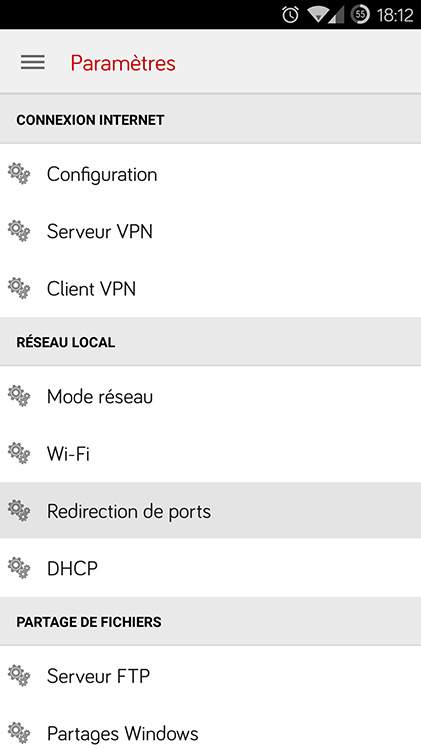 Redirection de port Free 06