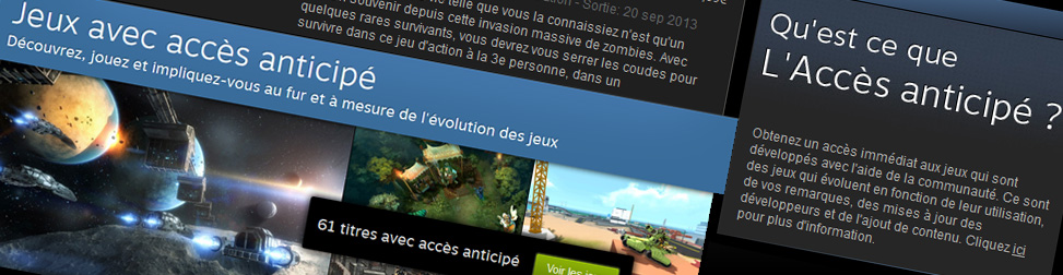 Steam Early Access Entête